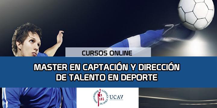Portada del curso Máster en Captación y Detección de Talento en Deporte (Universidad Católica de Ávila)