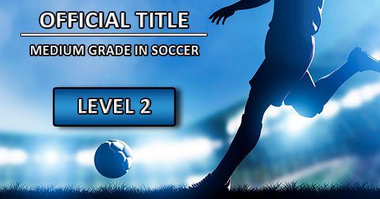 Обложка курсаОфициальное звание среднего уровня по футболу 2-го уровня